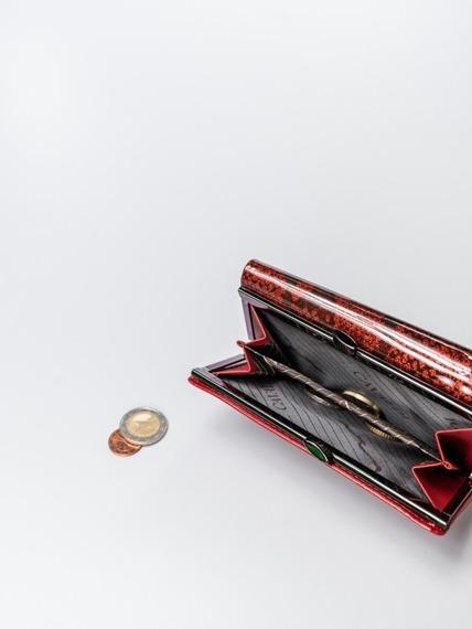 Stylowy portfel damski czerwony Cavaldi PL23-SN