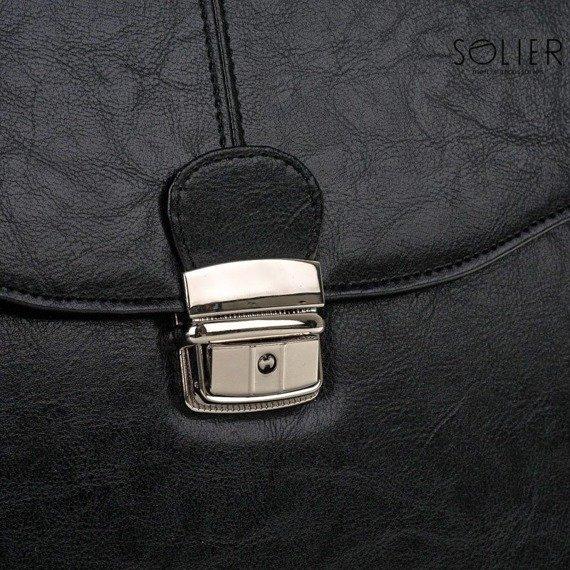 Teczka aktówka męska biznesowa SOLIER S22 czarna