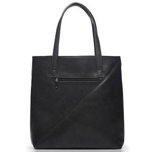 Torba damska shopper bag FELICE Verona tres ciemna szara