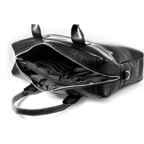 Torba męska na ramię na lapotop casual BRODRENE B03 czarna