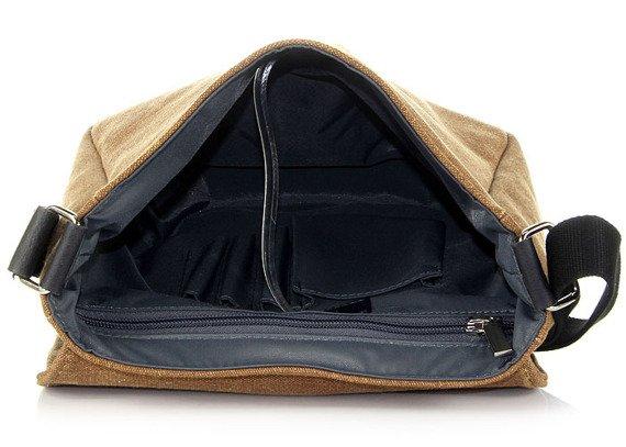 Torba na ramię unisex DAAG Clou 3 brązowa z tkaniny bawełnianej