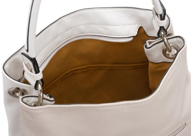 Torebka damska biało-beżowa David Jones CM5673