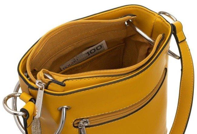 Torebka damska koszyk żółta David Jones CM5746