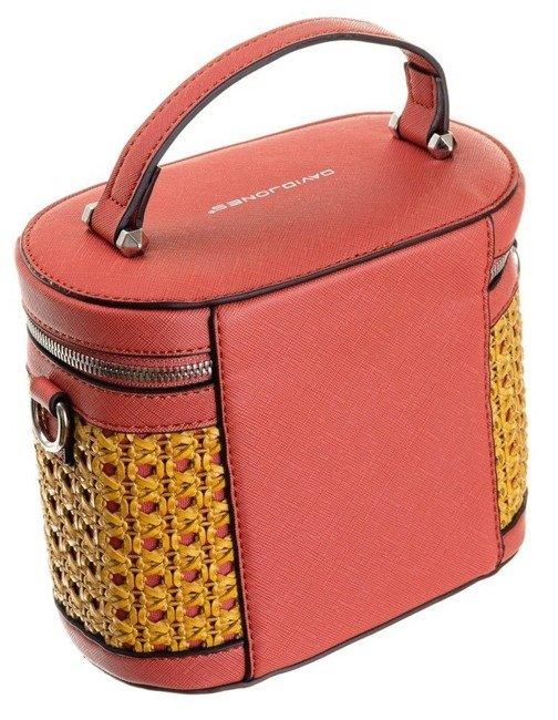 Torebka damska kuferek czerwona David Jones 6246-1