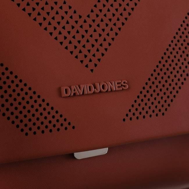 Torebka damska listonoszka czerwona David Jones 6281-1