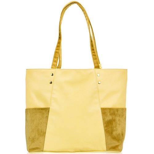 Torebka damska shopper Felice Bonita FB03 żółta