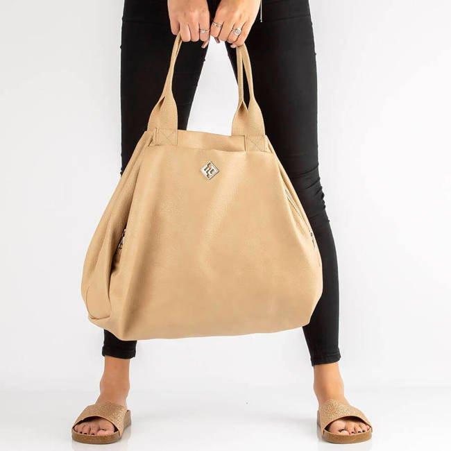 Torebka damska shopper bag beżowa Filippo TD0006/21 BE