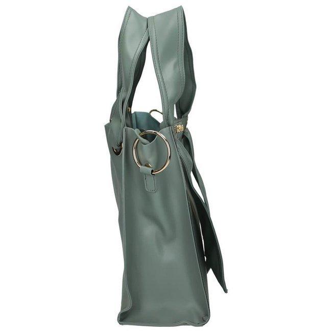 Torebka damska shopper zielona NOBO NBAG-I2930-C008