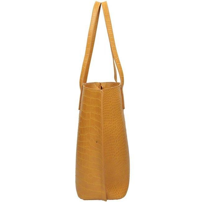 Torebka damska shopper żółta NOBO NBAG-K1690-C002