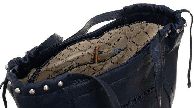 Torebka damska shopperka A4 Monnari granat 0700