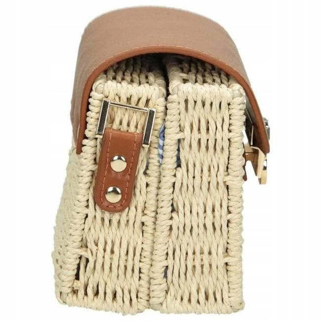 Torebka damska wiklinowy kuferek Nobo beżowa