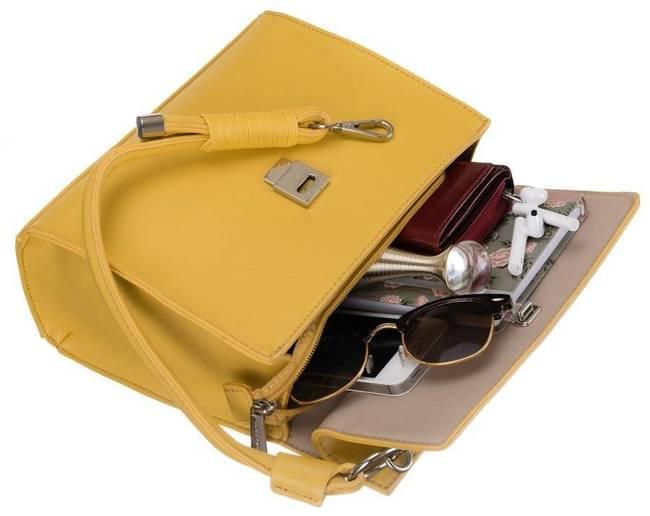 Torebka damska żółta David Jones  CM5715 YELLOW