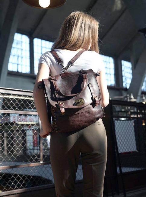 Torebka plecak 2w1 MARCO MAZZINI v106b czekoladowa