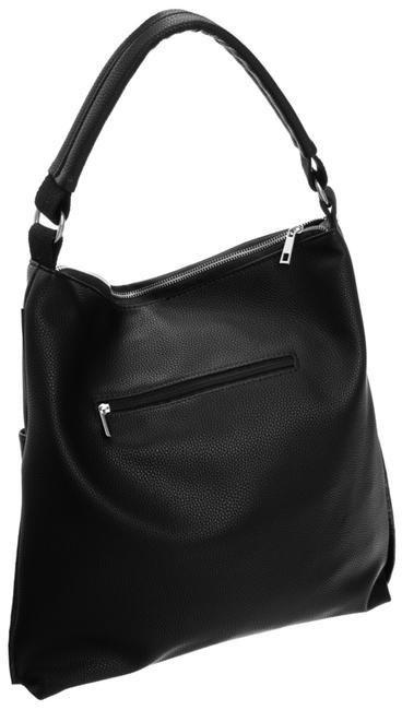 Torebka shopper bag damska worek A4 Badura czarna