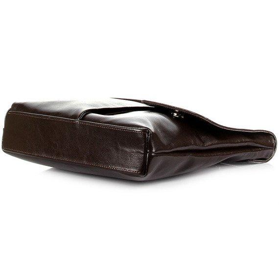 Torebka skórzana damska listonoszka DAN-A T216 czekoladowa