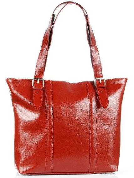 Torebka skórzana elegancka DAN-A T251 czerwona
