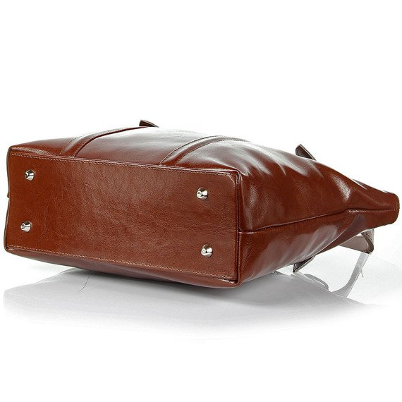 Torebka skórzana elegancka DAN-A T251 koniakowa