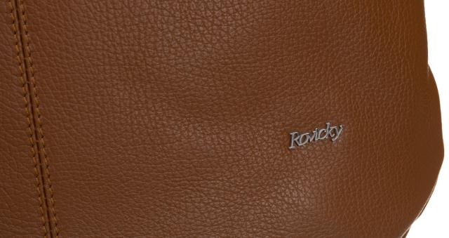 Torebka skórzana shopper bag brąz Rovicky twr-127