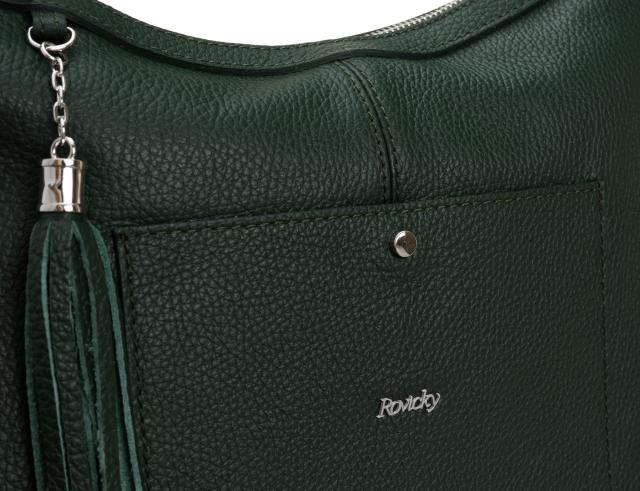 Torebka skórzana shopperka zielona Rovicky twr-119