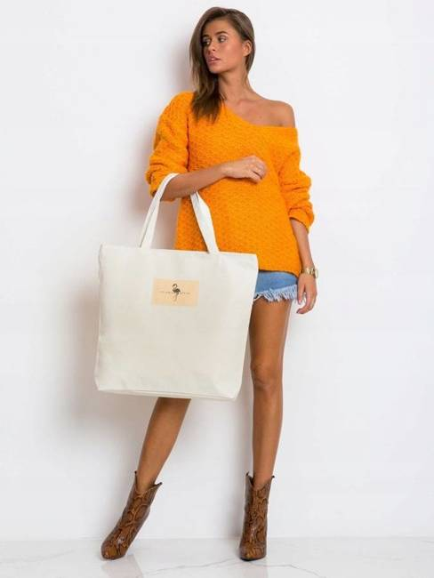 Tote bag z tkaniny płóciennej - street fashion