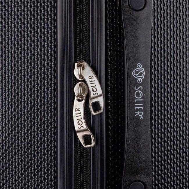 Walizka podróżna duża twarda ABS SOLIER STL946 czarna