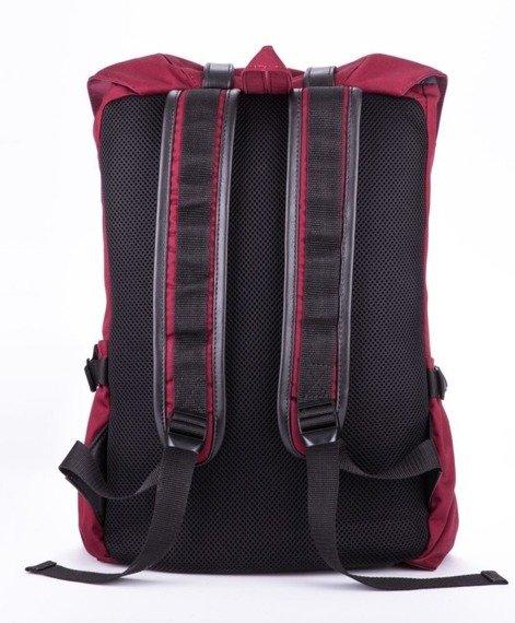 Wodoodporny plecak męski SOLIER SV01 burgundowy