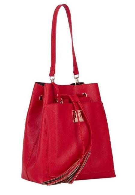 Worek damski czerwony Monnari BAG1010-005
