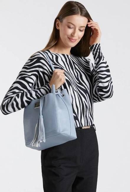 Worek damski niebieski Monnari BAG1010-012