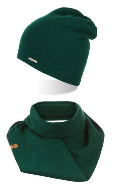 Zestaw czapka komin Brødrene zielony ZES2GREEN